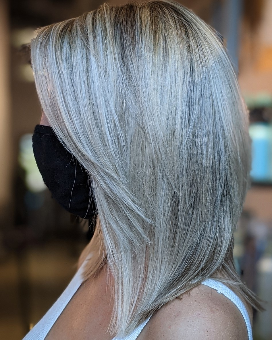 Gray Hair with White Highlights