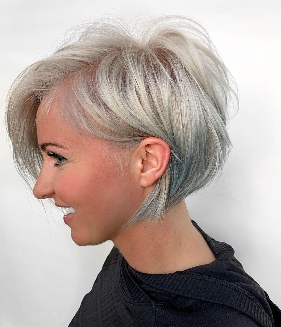 Short Gray Hair Style for Fine Hair