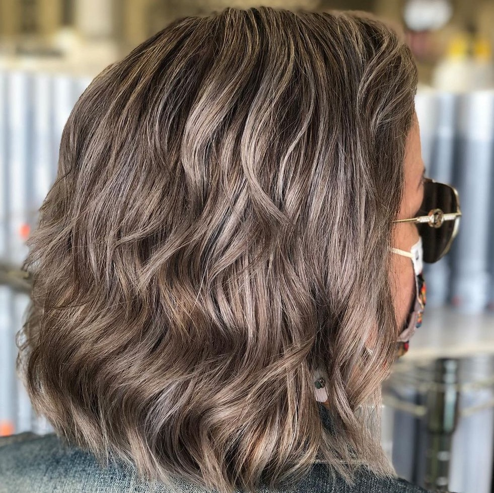 Gray Brown Hair with Layers