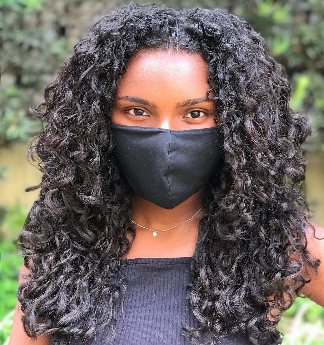 Center-Parted Deva Cut for Black Women