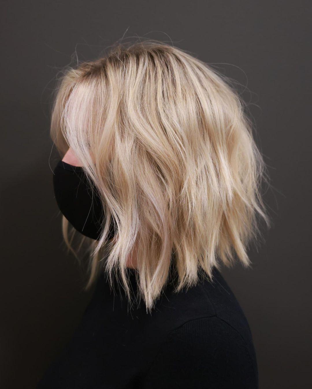 Medium Length Hair with Shaggy Layers