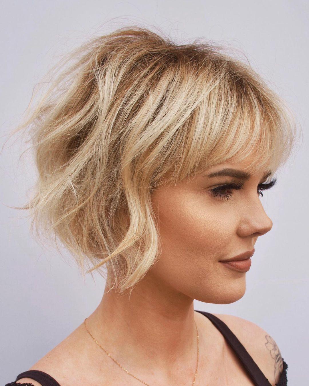 Short Fine Hair with Bangs
