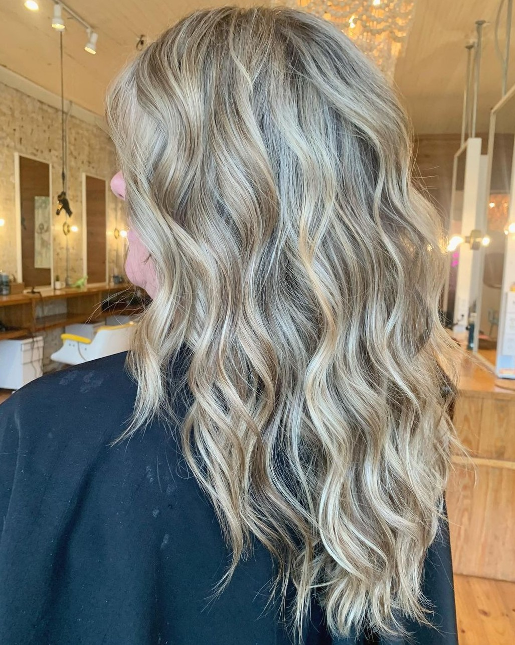 Gray Hair with Blonde Lowlights
