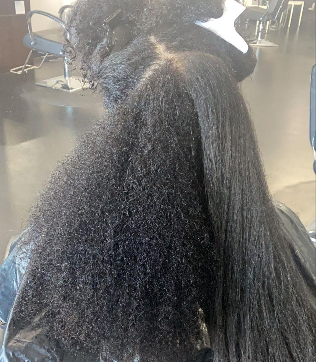 Protein Treatment for Natural Hair Before After Picture with Results