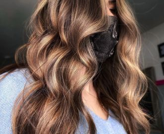 Brunette Hair with Bronze Highlights