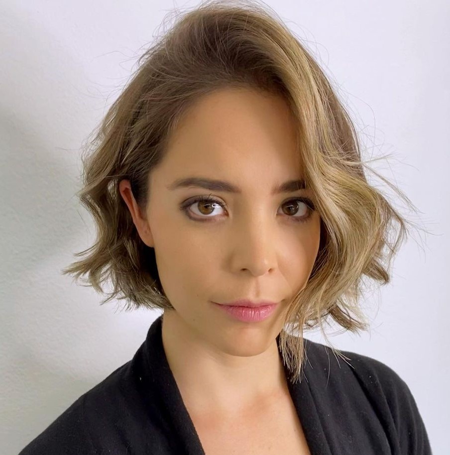Chin-Length Haircut for Wavy Hair