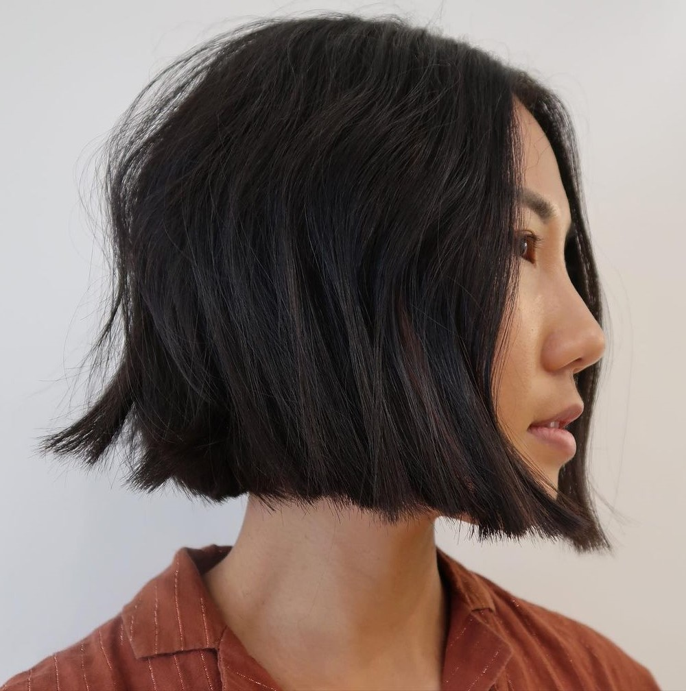 Straight Jaw-Length Bob with Choppy Ends