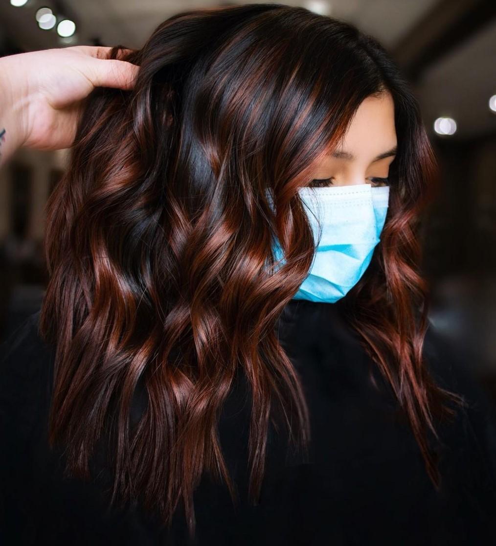 Black and Copper Hair Dye Ideas