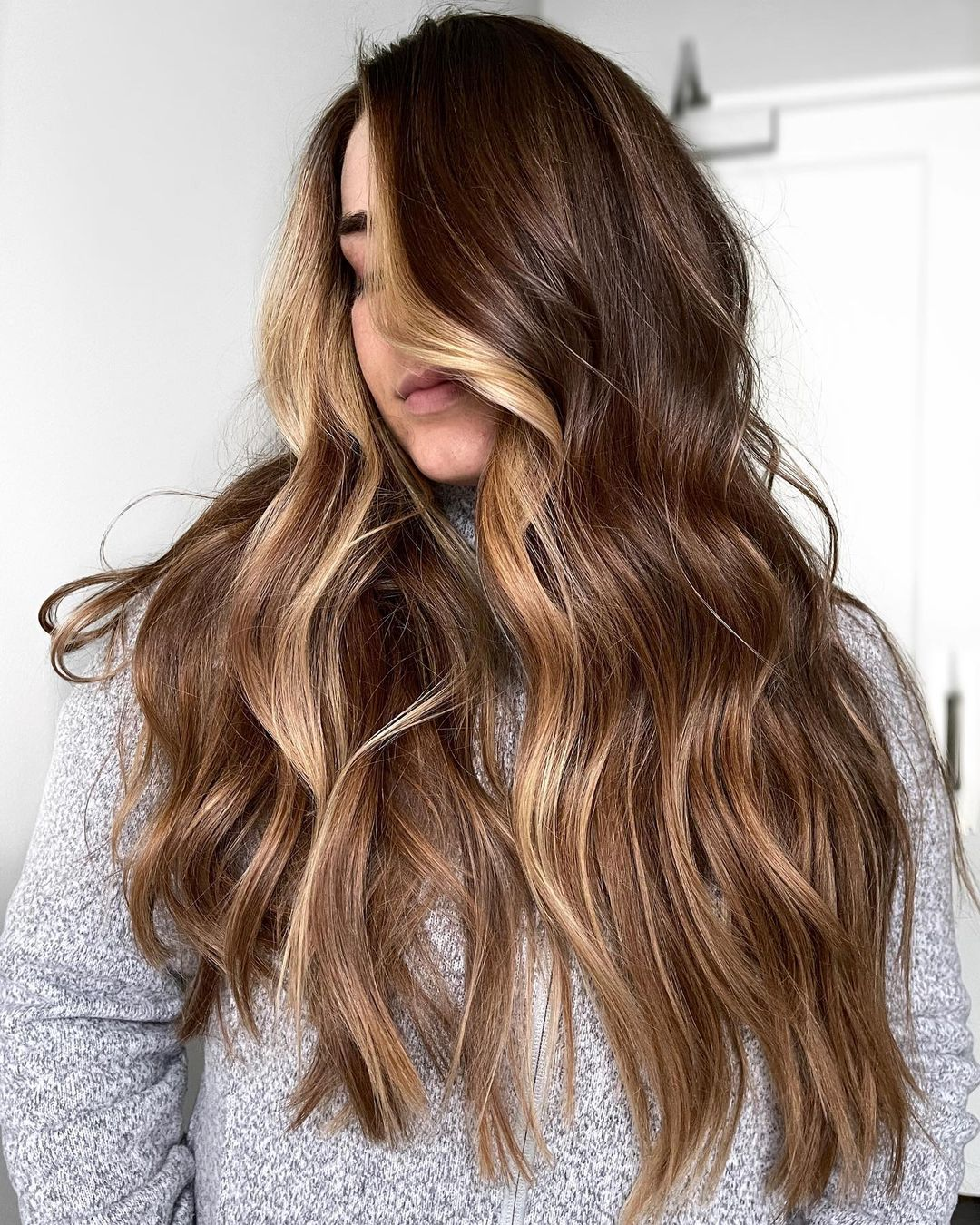 Golden Brown and Blonde Balayage
