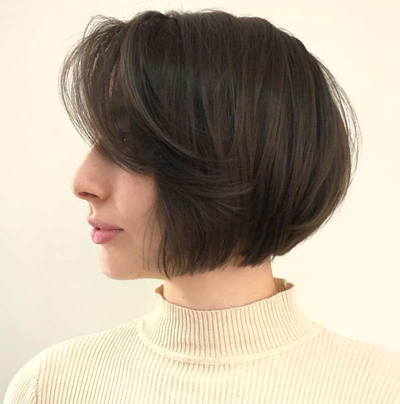 Chin-Length Bob with Bangs for Thin/Fine Hair