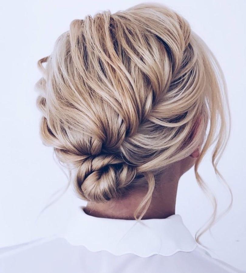 Wedding Braid and Bun for Shoulder-Length Hair