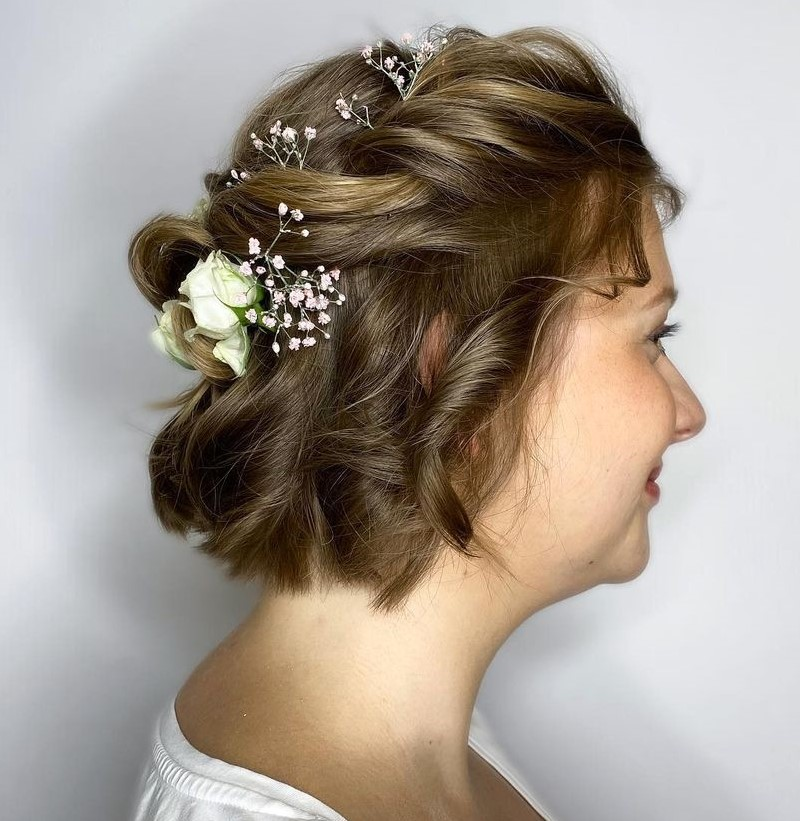Short Half Up Hair for Wedding