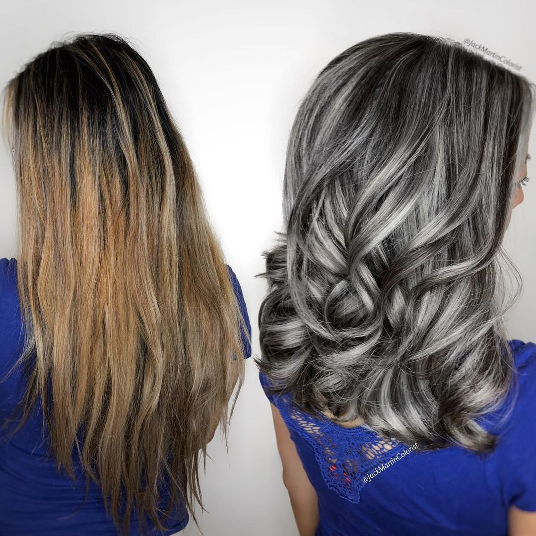 How to Cover Gray Hair with Highlights and Lowlights