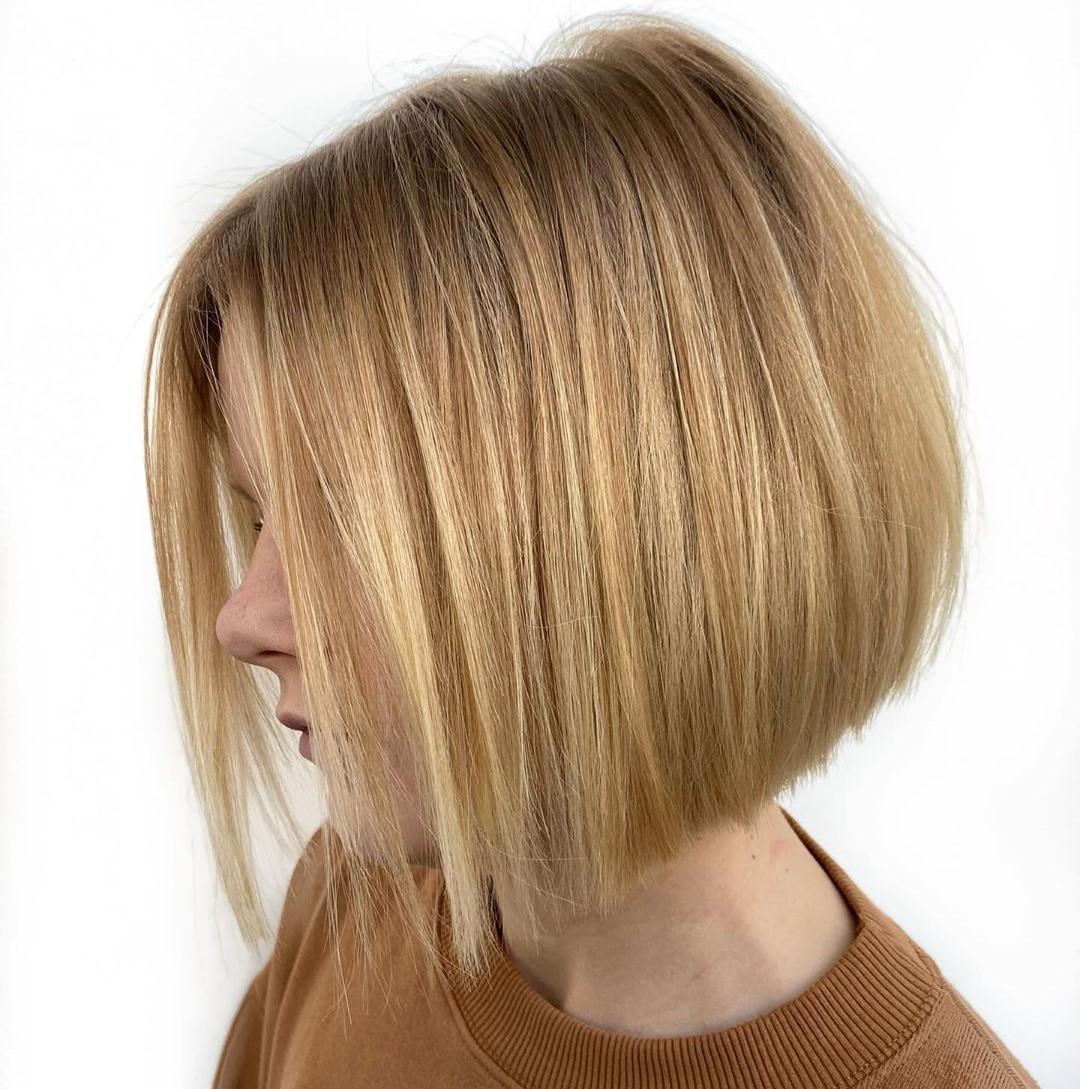 Golden Blonde Hair Color Idea
