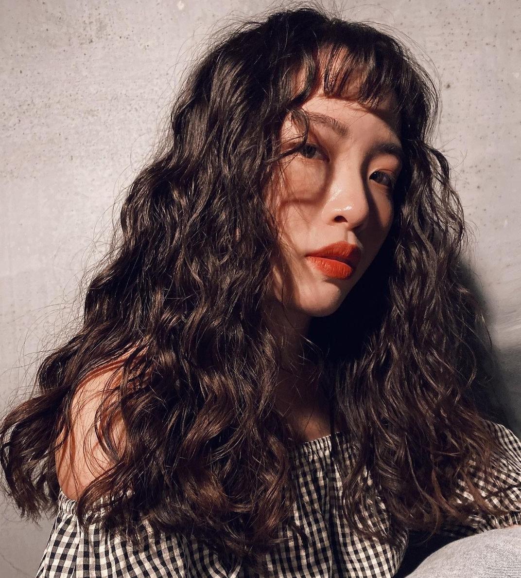 Long Asian Curly Hair