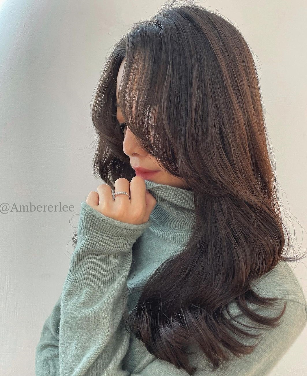 Long Asian Hair with Curled Layers