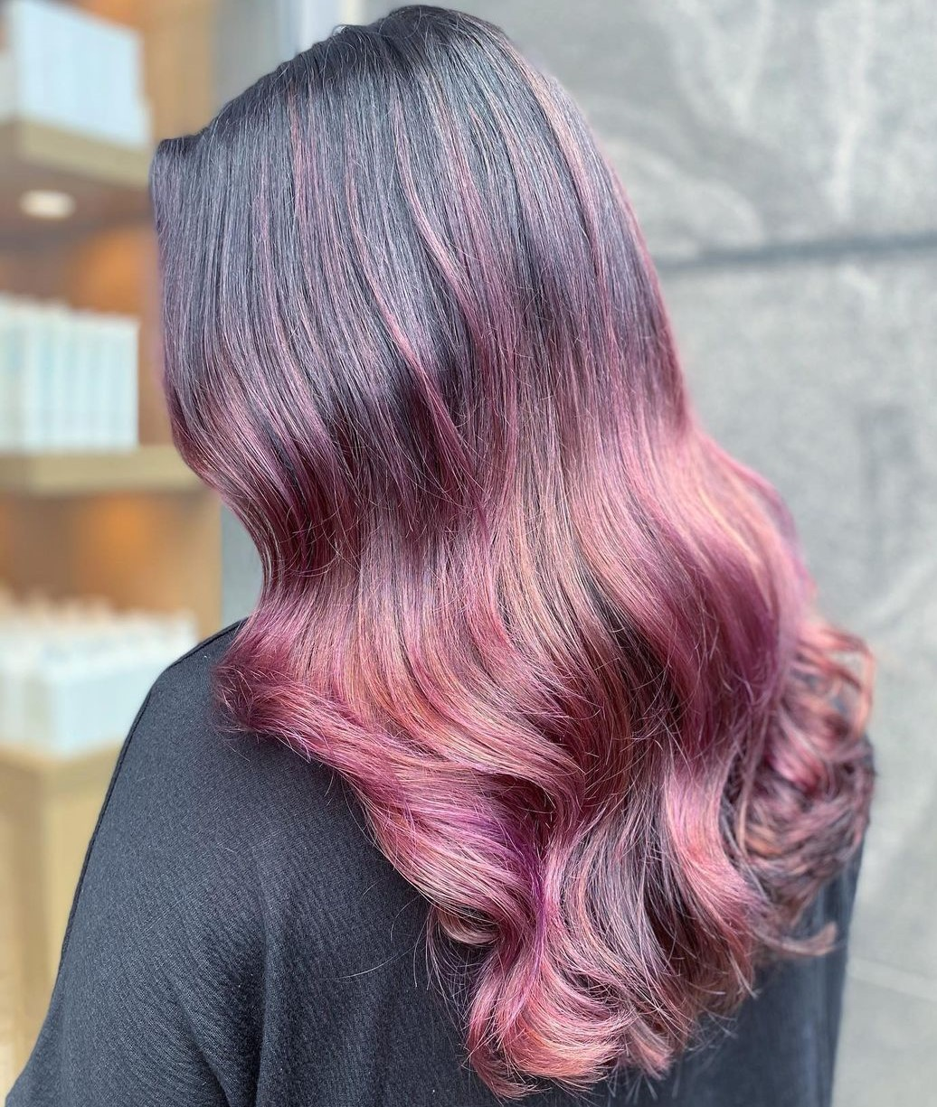 Light Plum Balayage Hair