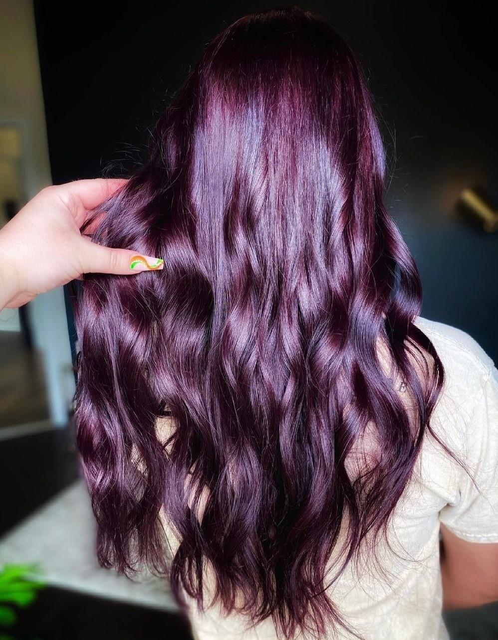 Eggplant Hair Color for Brunettes