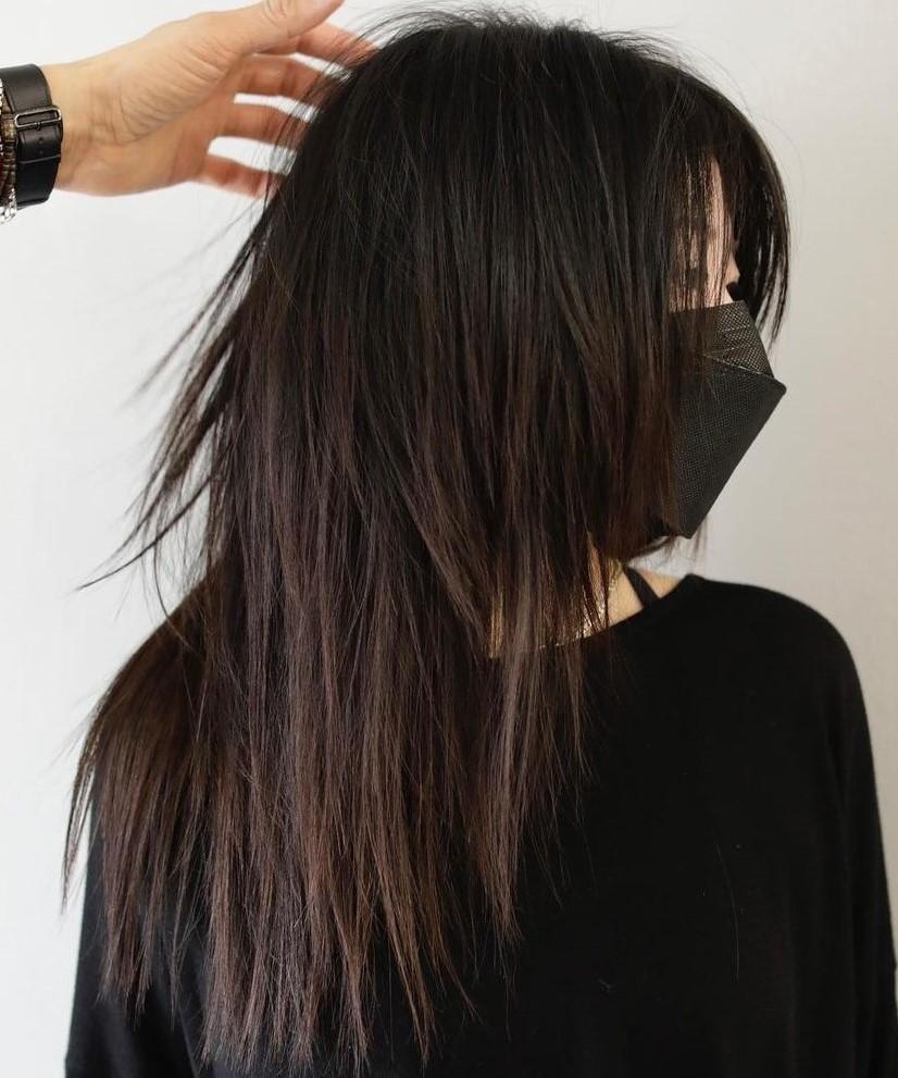 Creative Sliced Cut for Straight Hair