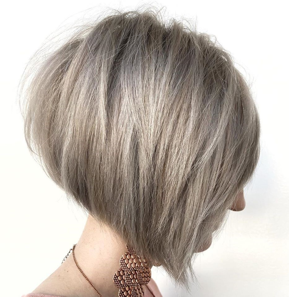 Stacked Blonde Bob for Short Hair