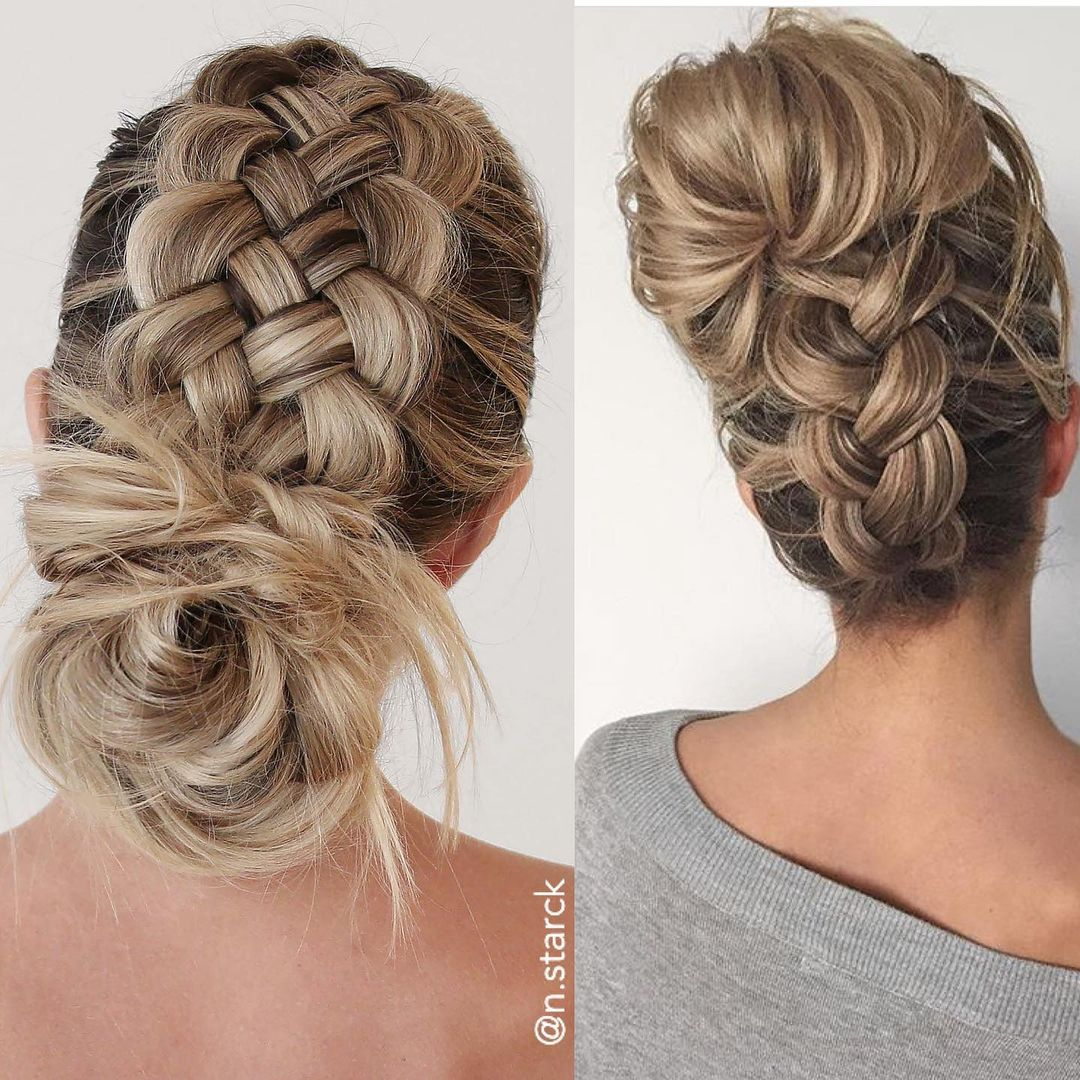 Braided Hairstyle with a Bun