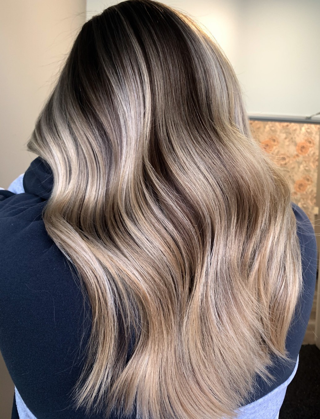 Dark Shadow Roots and Blonde Lengths