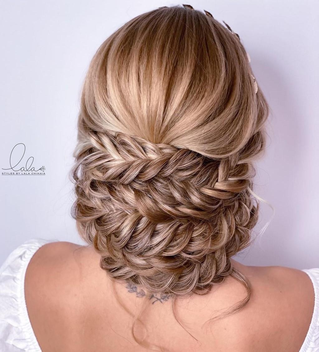 Fishtail Braid Updo for Long Hair