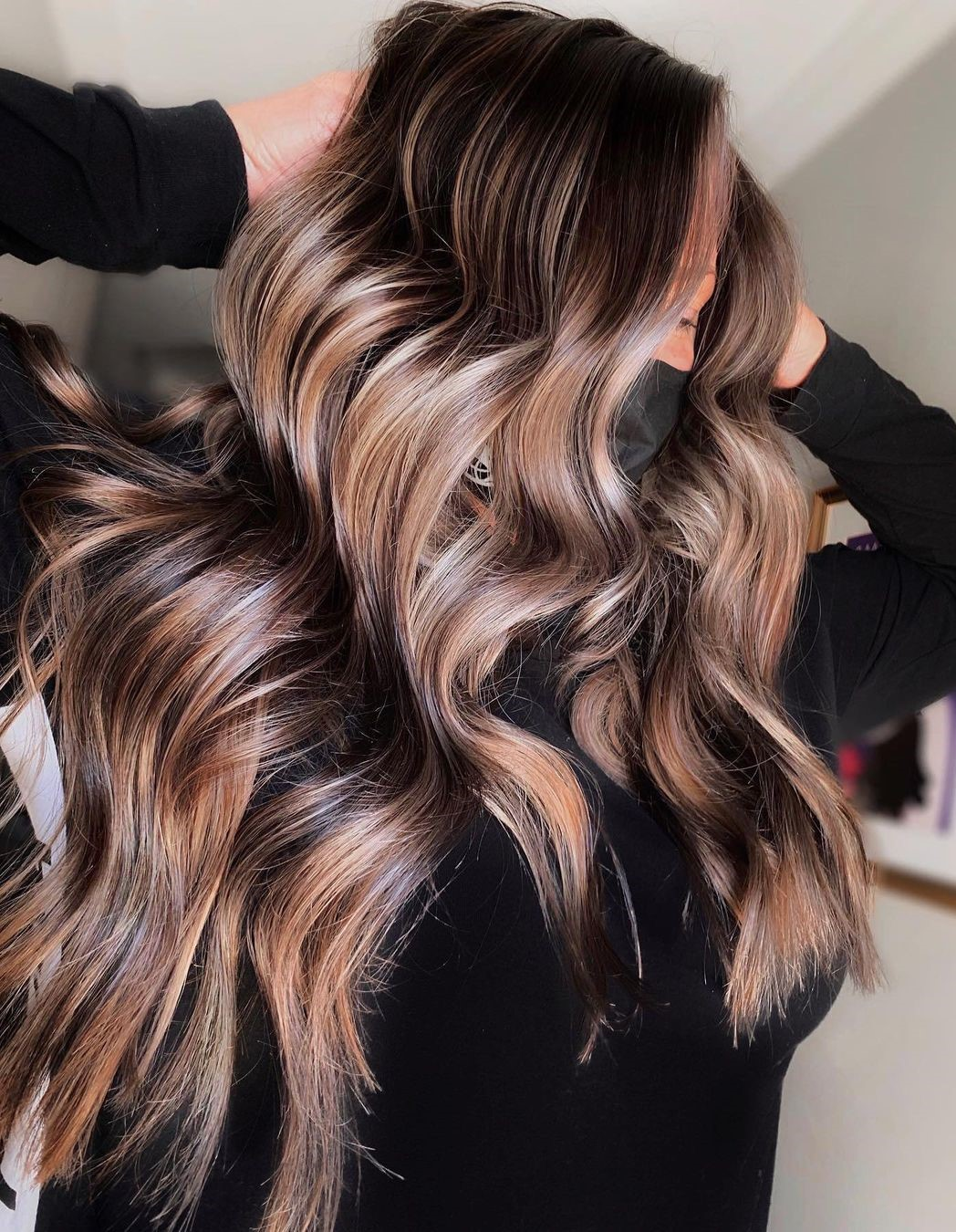 Warm Blonde Highlights for Brown Hair