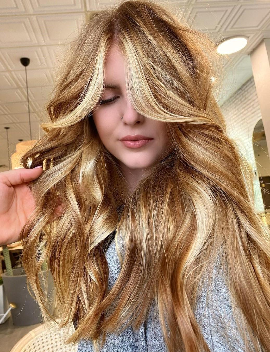 Warm Brown Blonde Hair