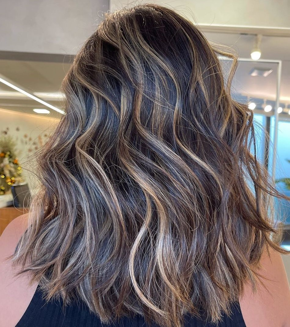 Brunette Hair with Subtle Highlights