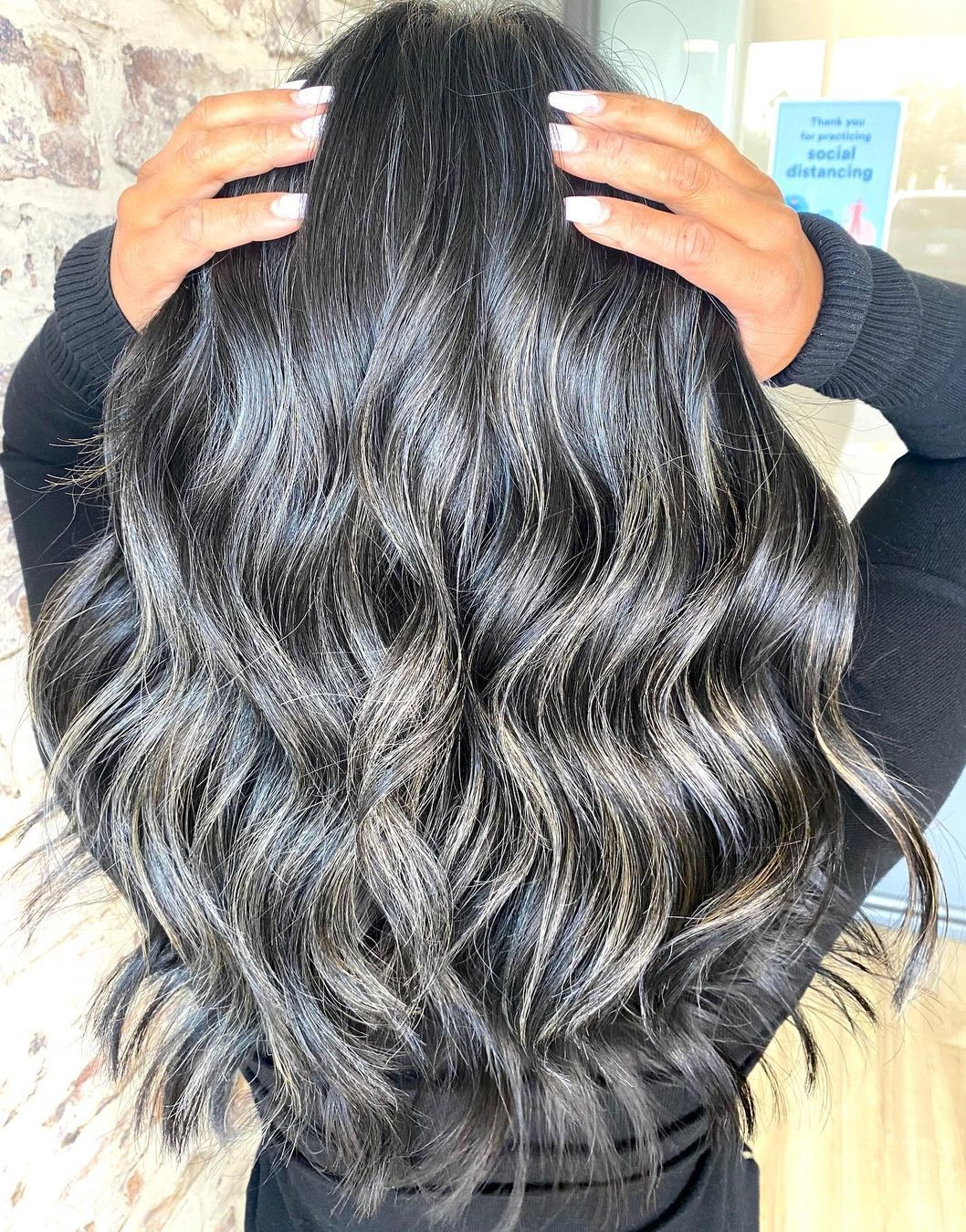 Silver and Gold Highlights for Black Hair