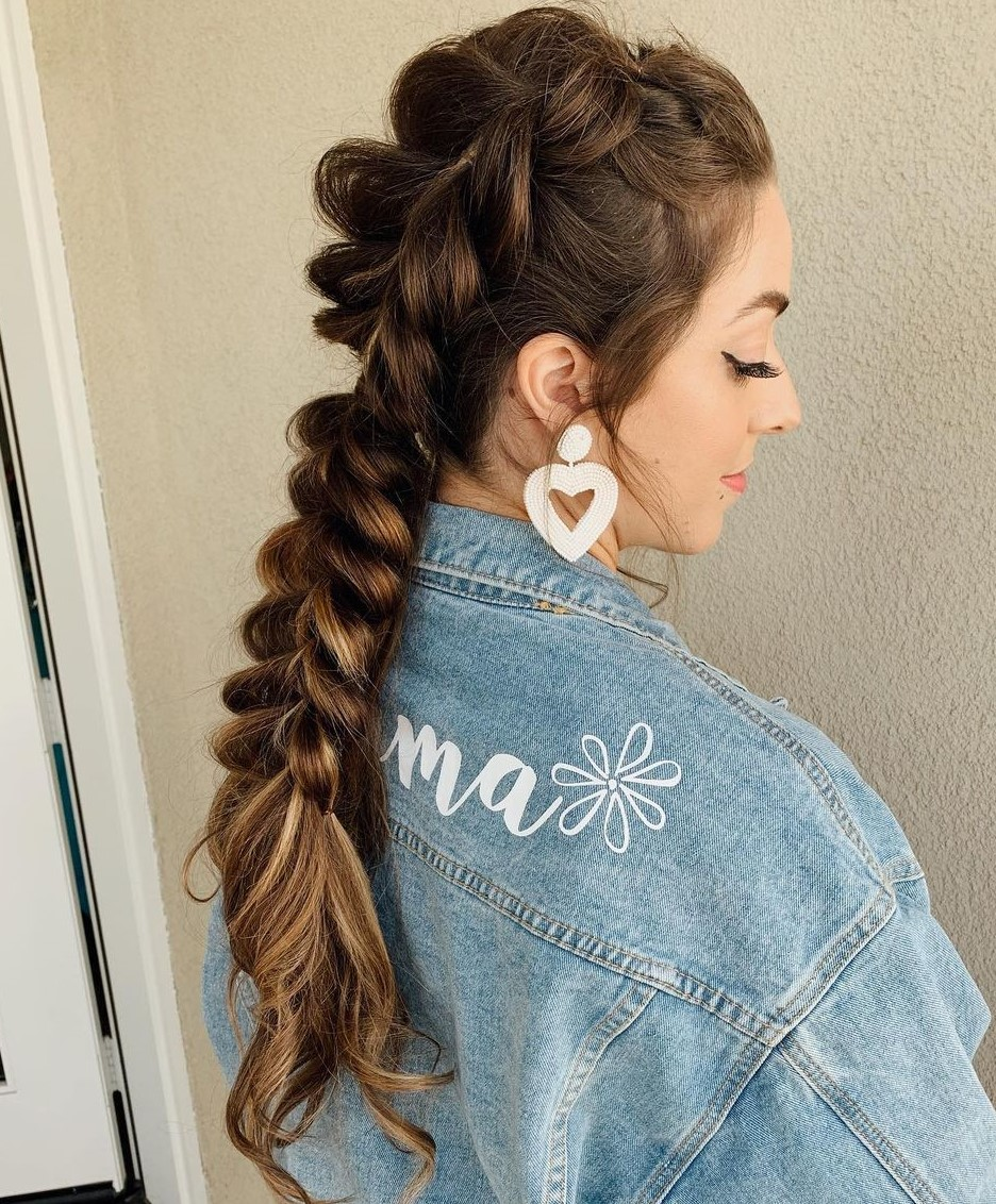 Cute Braid from Pull-Through Ponytails