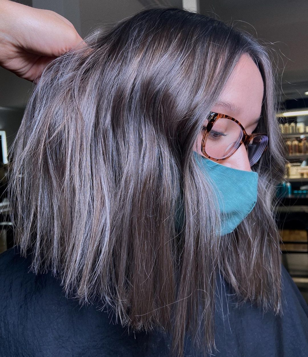 Polished Brown Lob with Gray Highlights