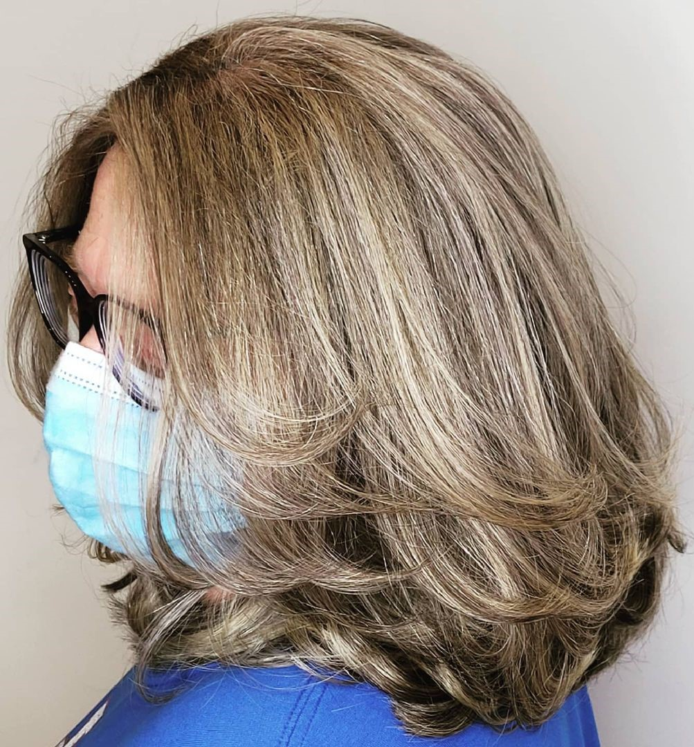 Medium Layered Hairstyle Over 50