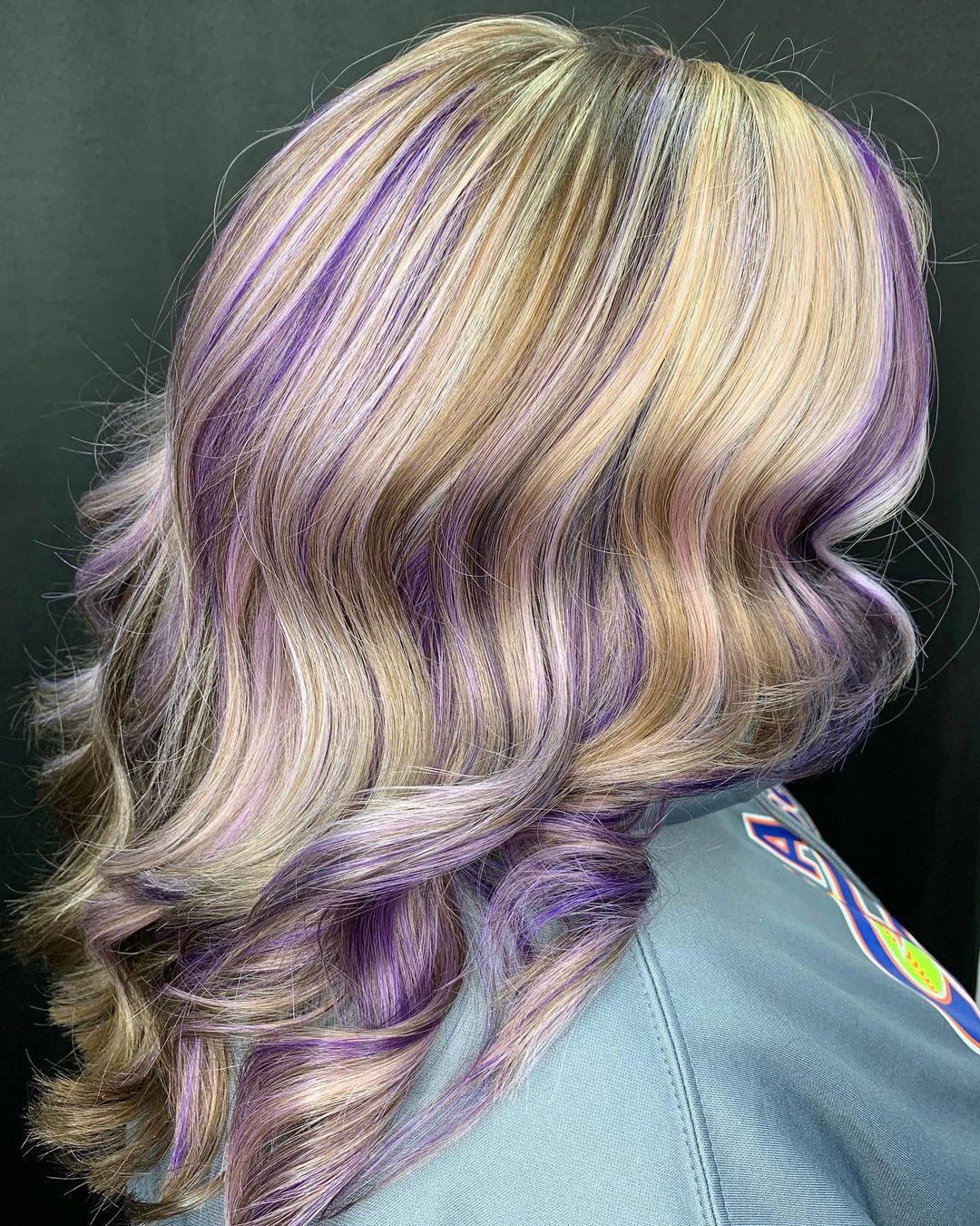 Blonde and Purple Hair Idea