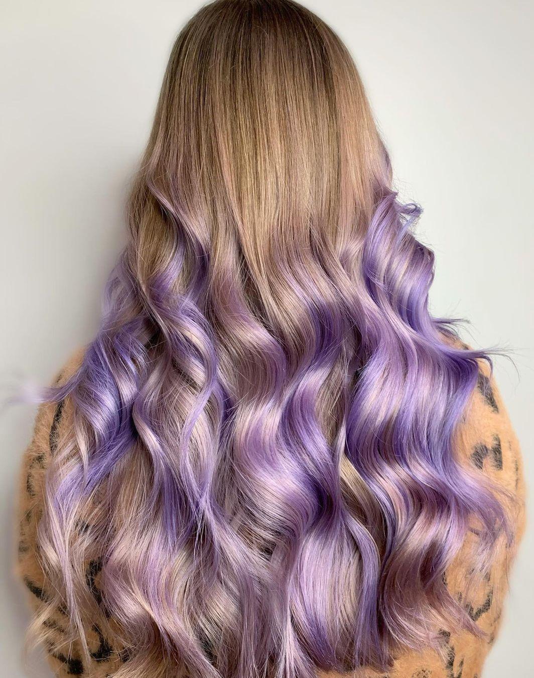 Dramatic Pastel Purple Highlights