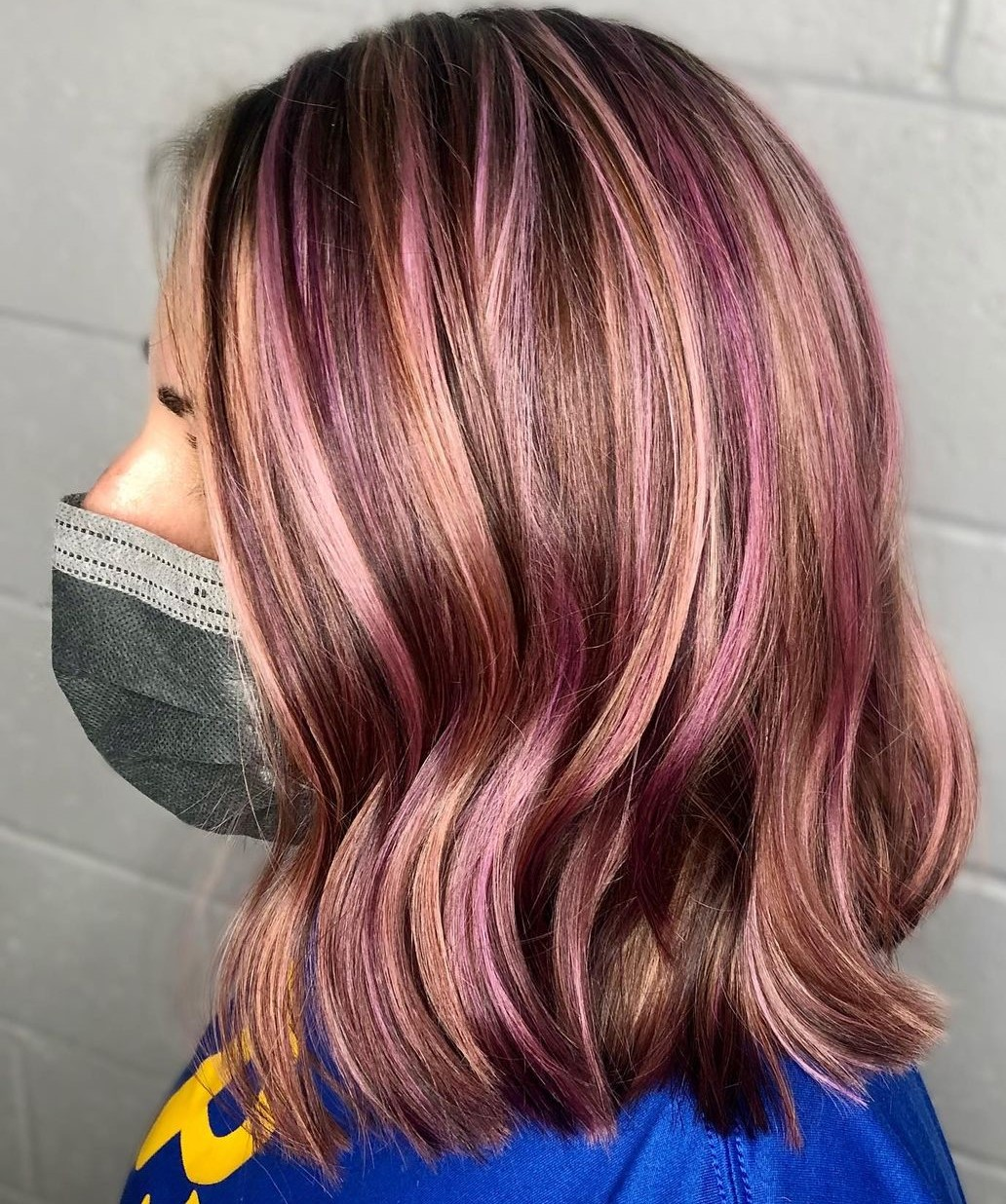 Blonde and Purple Highlights for Brown Hair