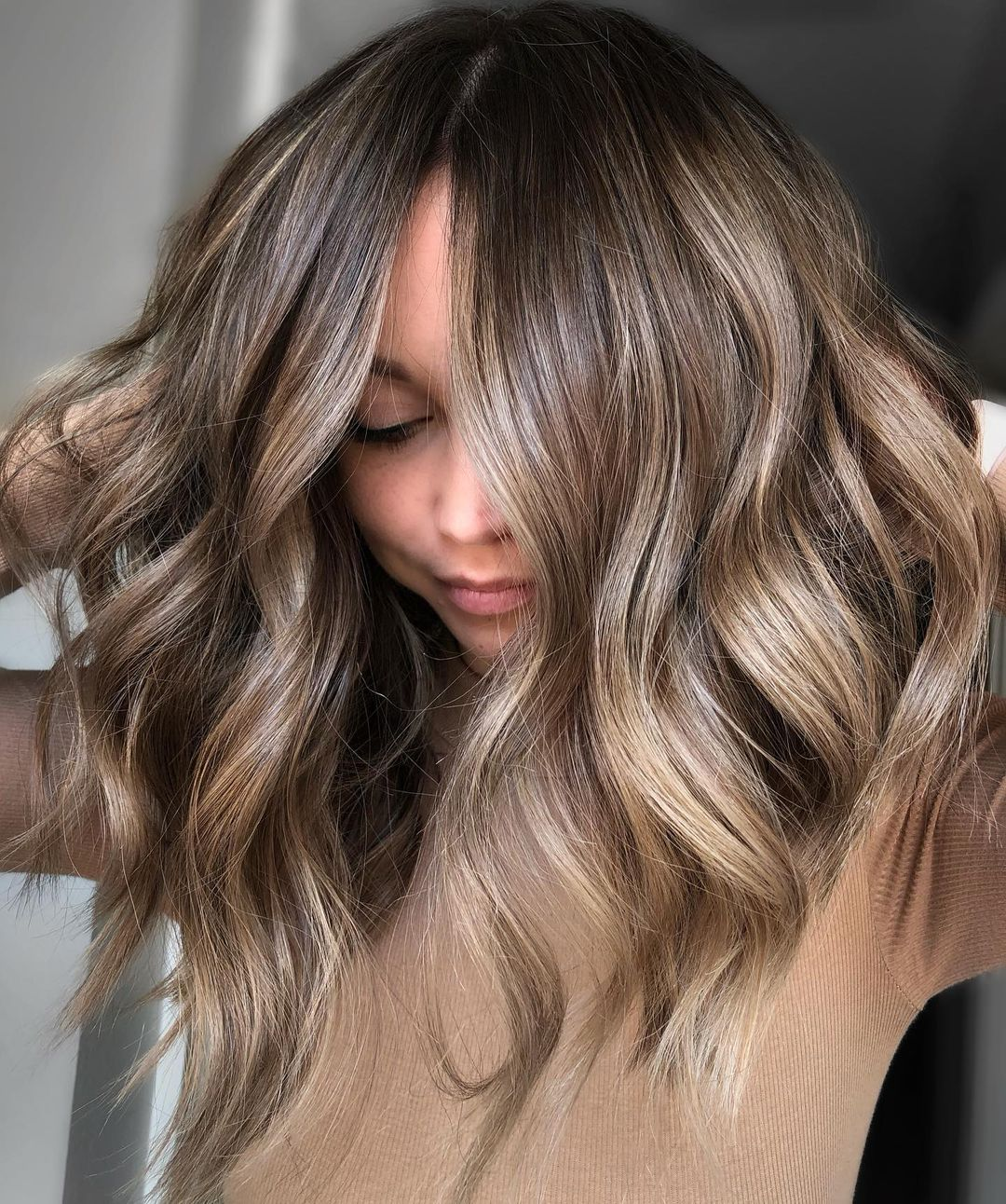 Mushroom Brown Hair with Blonde Highlights
