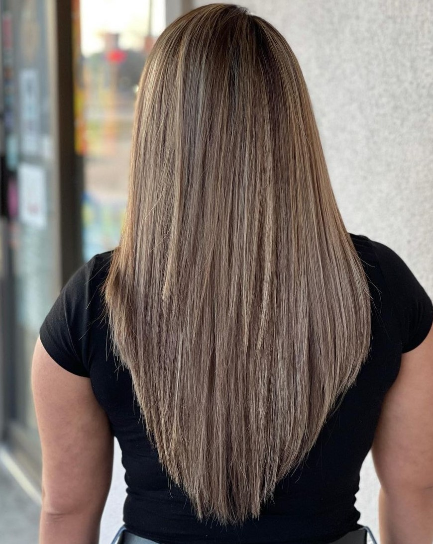 Quirky V Shape Cut for Straight Hair