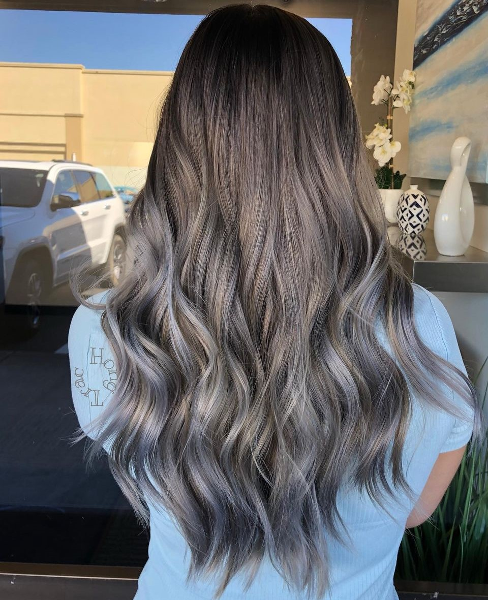 Mushroom Brown Hairstyle with Gray Ends