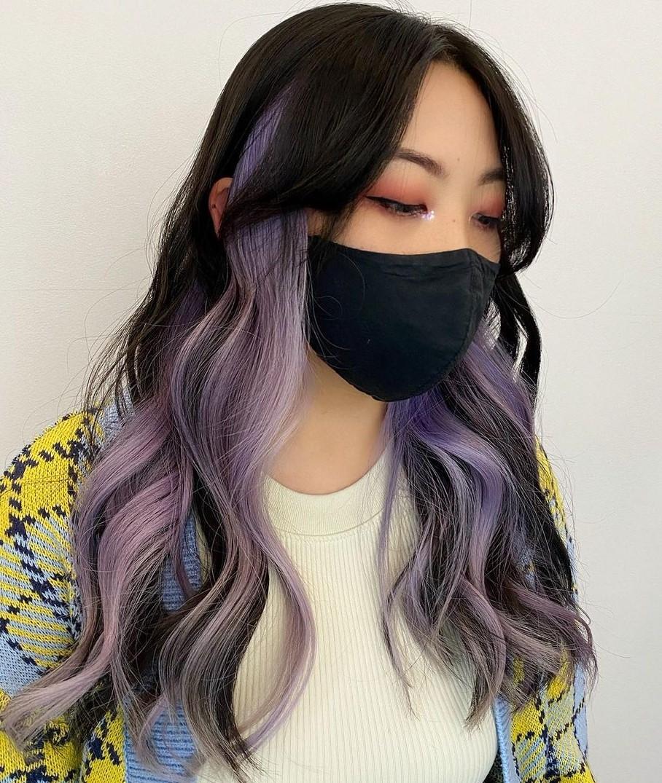 Black and Purple Peek-a-Boo Highlights