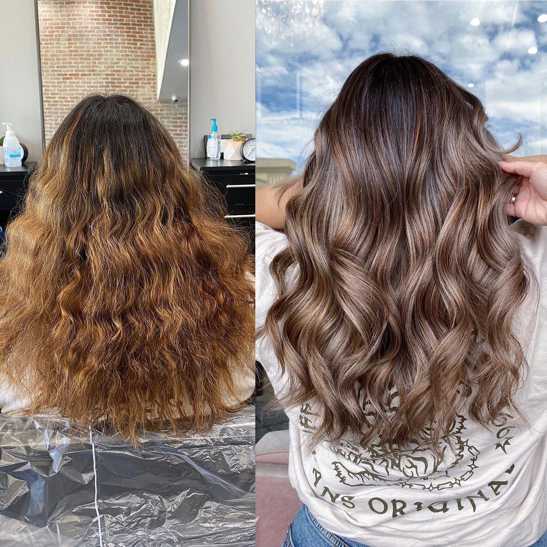 Olaplex Salon Hair Treatment Before-After Photos
