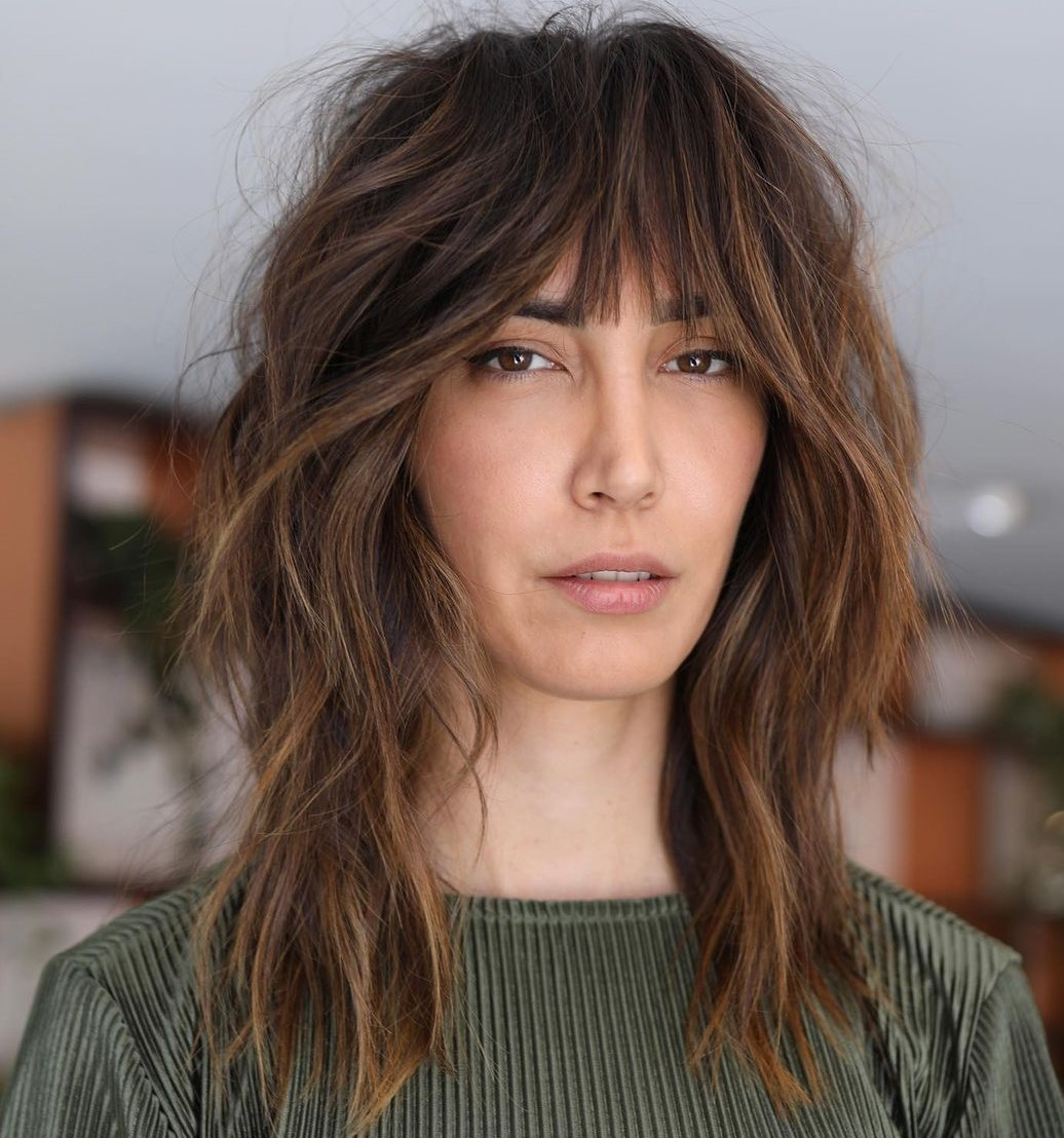 Baby Bangs for an Inverted Triangle Face