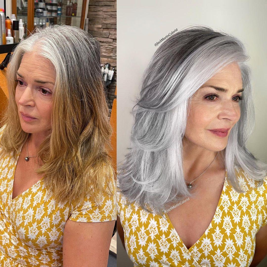 Transitioning to Natural Gray Hair