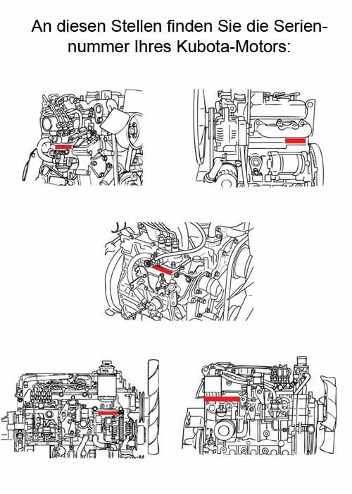 Dieselmotor Motor Kubota V1200 28,5PS 1237ccm gebraucht