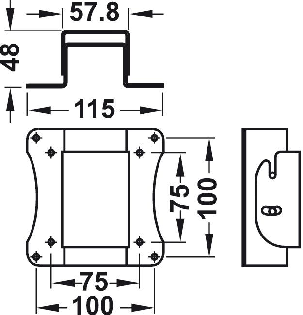 Manuelles Hebesystem, TV-Lift Push, manuell drehbar