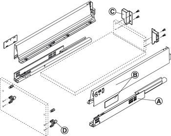 Drawer set, Blum Tandembox antaro, with Blumotion cabinet