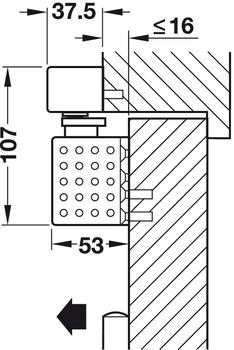 Overhead door closer, TS 93B GSR-EMR 2, Contur design