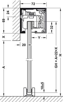 Set components, Dorma Muto Comfort XL