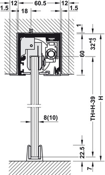 Supporting bracket / fascia bracket, For integrated